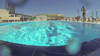 testing my new camera gopro hero3 black edition in a pool