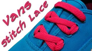 getlinkyoutube.com-⋈ ⋈ ⋈  How to stitch lace your Vans ⋈ ⋈ ⋈