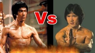 getlinkyoutube.com-Bruce Lee vs. Jackie Chan Push up I 李小龙 - 与- 成龙