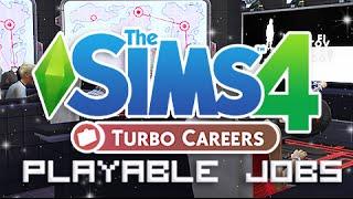 getlinkyoutube.com-The Sims 4 | Mod Overview | Turbo Career - Playable Jobs!