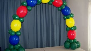 getlinkyoutube.com-How To Make A Table Top Balloon Arch- No Helium