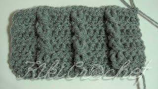 getlinkyoutube.com-Crochet Cable Stitch (single cables- english tutorial)