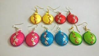 getlinkyoutube.com-48. Floral 3D Quilling Earrings Tutorial