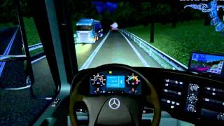 getlinkyoutube.com-Euro Truck Simulator 2008 load to Gibraltar with MB actros MP4 part8