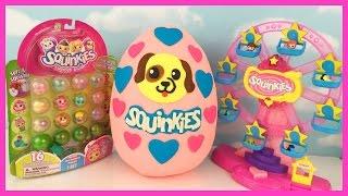 getlinkyoutube.com-Huge Squinkies Play Doh Surprise Egg! Shopkins! Blind Bags! Hello Kitty!
