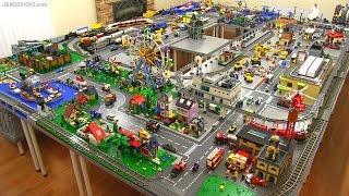 getlinkyoutube.com-LEGO city walkthrough Summer 2015! A 245 sq. ft. layout!
