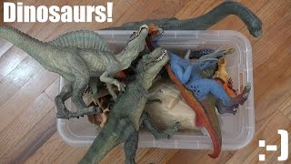 getlinkyoutube.com-Bunch of Dinosaur Toy Collection + A Dinosaur Box Unboxing & Playtime 2 of 2
