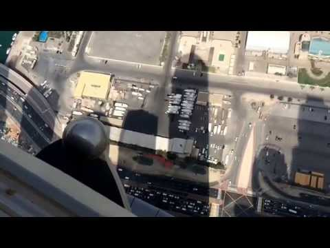 Princess Tower BASE jump.  Skydive Dubai,  X Dubai, Megarme and Dream Jump