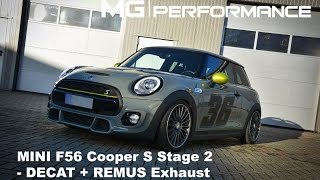 getlinkyoutube.com-MG|Performance - F56 Cooper S | Stage 2 / Decat / Extrem Exhaust
