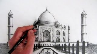 getlinkyoutube.com-How to Draw the Taj Mahal: Narrated Step by Step