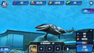 getlinkyoutube.com-Jurassic world the game new mosasaurus