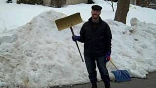 getlinkyoutube.com-Snow Shoveling - how to shovel deep, wet snow.