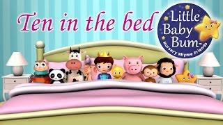 getlinkyoutube.com-Ten In The Bed | Nursery Rhymes | from LittleBabyBum!