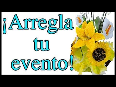 ¡ Arreglo Floral para Eventos ! Todo de Foami - MUY PRÁCTICO