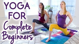 getlinkyoutube.com-Yoga for Complete Beginners to Improve Flexibility | 25 Minute Relaxing Stress Relief Stretches