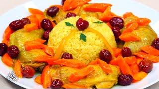 getlinkyoutube.com-شميشة : طاجين الدجاج بالأرز، الجزر والزيتون الأحمر | سلطة الخرشوف الشوكي (القوق) بالجمبري
