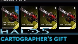 getlinkyoutube.com-Halo 5: Guardians - Cartographer's Gift REQ Pack Opening (All new Items Unlocked!)