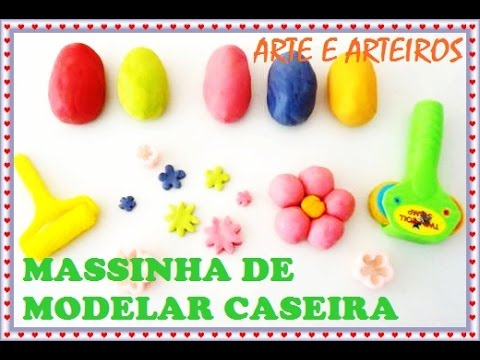 MASSINHA DE MODELAR CASEIRA -