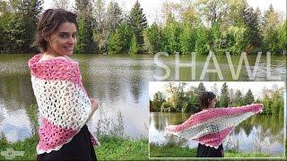 getlinkyoutube.com-Crochet Shawl - Beautiful Vintage Lace Style!