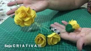 getlinkyoutube.com-Chaveiro De Flor Em Feltro