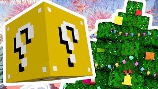 getlinkyoutube.com-Minecraft 1V1V1V1 SKY ISLAND SUPERHERO CHRISTMAS LUCKY BLOCK BATTLES! | (Minecraft Modded Minigame)