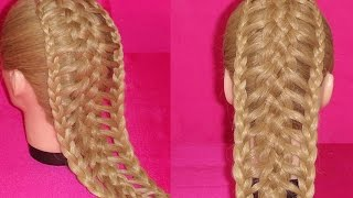 getlinkyoutube.com-TRENZA EXTENDIDA  ó ESCALERA |  EXTENDED BRAID |   LADDER  BRAID | VIRIYUEMOON