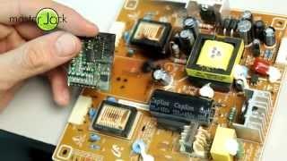 getlinkyoutube.com-Ремонт монитора, замена ламп подсветки на светодиодную ленту.
