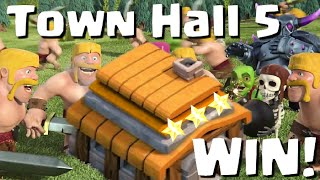 getlinkyoutube.com-Clash of Clans Town Hall 5 Defense / Attack Strategy / War Bases - Let's Play #4
