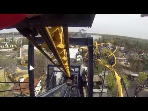 Batman The Ride Backwards (HD) POV - Six Flags Great America