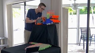 SHOOTING 430 NERF DARTS AS FAST AS POSSIBLE | QUADRUPLE HYPERFIRE!