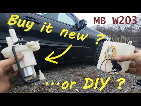 Mercedes w203 Fuel Pump Replacement c class c160 c180 c200 c230
