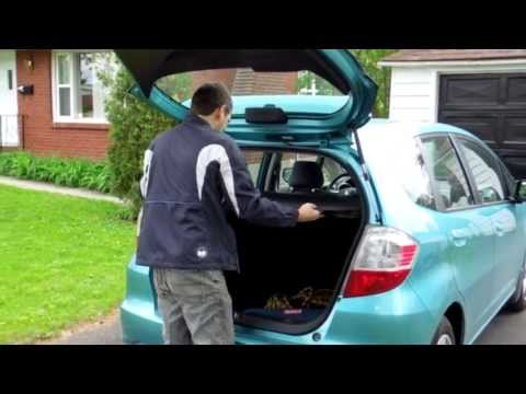 Homemeade trunk cover for Honda Fit