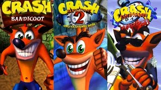 Crash Bandicoot Trilogy - Complete 100% Walkthrough (All Gems, Boxes & Crystals) HD