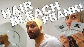 getlinkyoutube.com-HAIR BLEACH PRANK!!