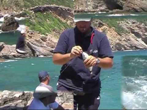 Rock fishing in Greece-Pole fishing on the rocks 2-Απίκο στα βράχια