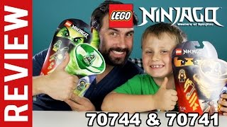 getlinkyoutube.com-LEGO Ninjago Master of Spinjitzu # 70744 70741 Airjitzu Wrayth Flieger - Review - Deutsch