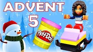 getlinkyoutube.com-Toy Advent Calendar Day 5 - - Shopkins LEGO Friends Play Doh Minions My Little Pony Disney Princess