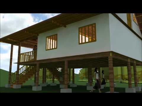 Casa indigena Bamboo Guadua Choco Colombia Casa de paso