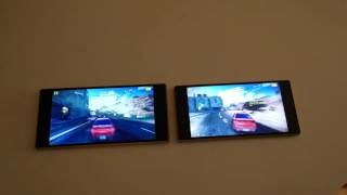 getlinkyoutube.com-Sony Xperia Z5 vs Z5 Premium - Gaming Comparison - Asphalt 8 With PS4 Bluetooth Controllers