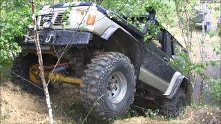 getlinkyoutube.com-Nissan Patrol Y60 4.2D Jeep Cherokee XJ off-road