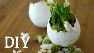getlinkyoutube.com-DIY: Hübsche Oster-Deko-Vasen einfach selber machen | Deko Kitchen