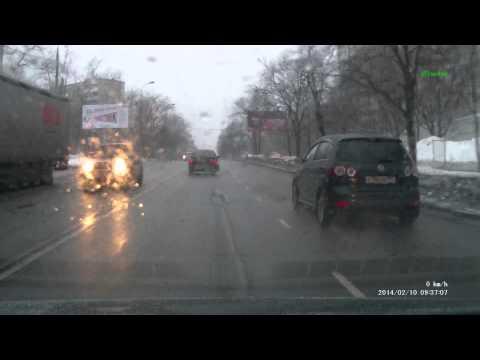 Авария на молдагуловой 10.02.13