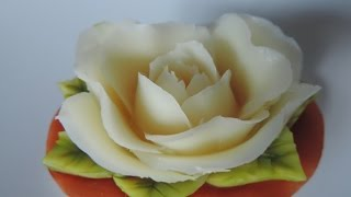 getlinkyoutube.com-CARVING A BEAUTIFUL ROSE IN SOAP -  By J.Pereira  Art Carving - 100 Aromas - Flores em sabonete