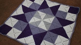getlinkyoutube.com-Left Handed Crochet Granny Square Tutorial, and Baby Blanket Pattern