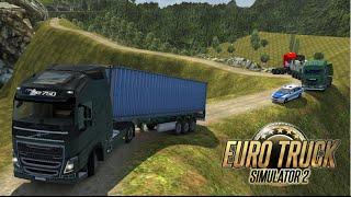 getlinkyoutube.com-Euro Truck Simulator 2 - Mapa Indonésia : Serra perigosa e alagamento na rodovia