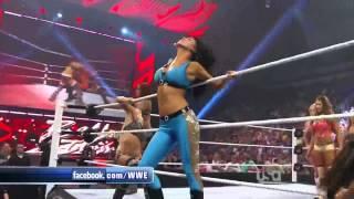 getlinkyoutube.com-WWE Raw 07/18/11 - 14 Diva Tag Team Match
