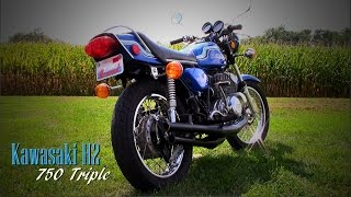 getlinkyoutube.com-1972 Kawasaki H2 Mach IV Two-stroke Triple