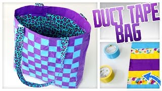 getlinkyoutube.com-DIY Duct Tape Tote Bag! - Do It, Gurl