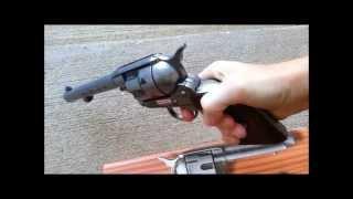 getlinkyoutube.com-Toy Pistols - Metal Cap Guns - Old West Western Cap Gun Revolver - Kolser