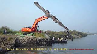 getlinkyoutube.com-Excavator with Telescopic Arm attachment..